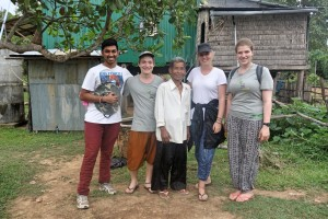 Jotham and fellow EWB volunteers in Cambodia